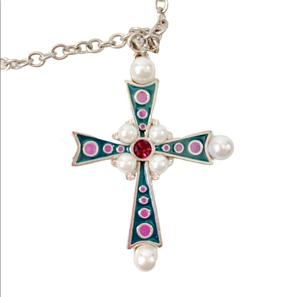 3/60 Deal !! Guess multi tone cross necklace